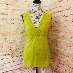 3/$25 Maurices Sheer Patterned Lime Tank - Medium